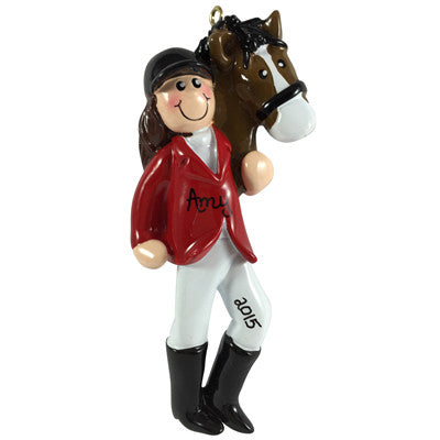 Equestrian Girl Brunette - Made of Resin