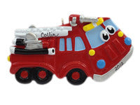 Firetruck with Face - Made of Resin