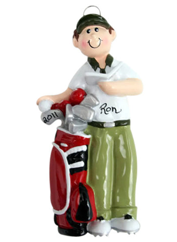 Golfer Boy - Made of Resin