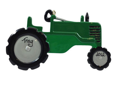 Green Tractor - Made of Resin