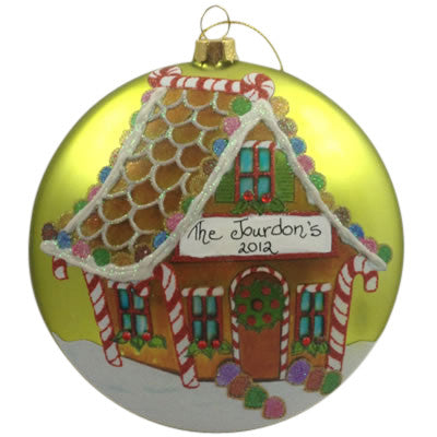 Gumdrop Gingerbread House - Made of Glass