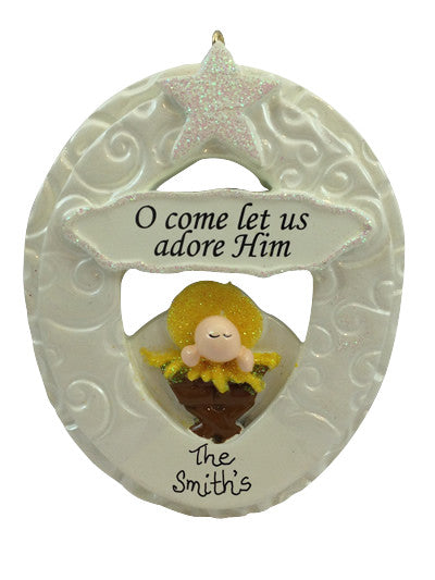 O Come Let Us Adore Him - Made of Resin