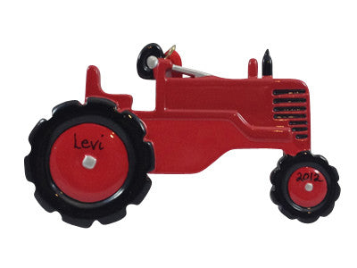 Red Tractor - Made of Resin