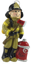 Firefighter Boy - Made of Resin