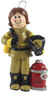 Firefighter Girl - Made of Resin