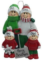Snow Shovel Family of 4 - Made of Resin