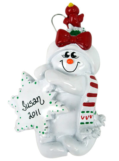 Snowman Girl - Made of Resin