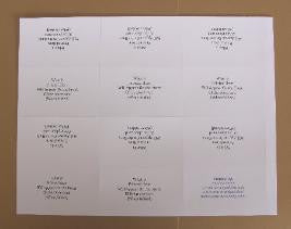 10 sheets - 6up - 8 1/2 x 11 sheet place cards - Blank-white or cream