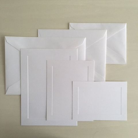 250 count Bulk flat cards and folders priced with Envelopes