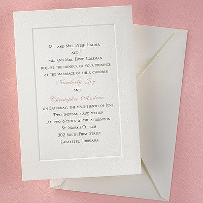 Blank Invitation Paper   Flat Rate Ground Shipping
