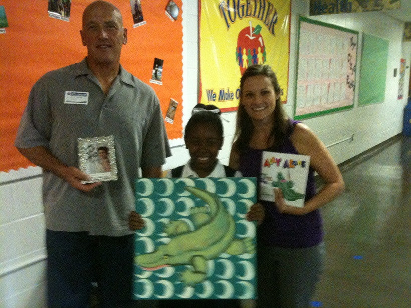 First-grader inspires new book, ALLY ALONE and meets Miss America's father