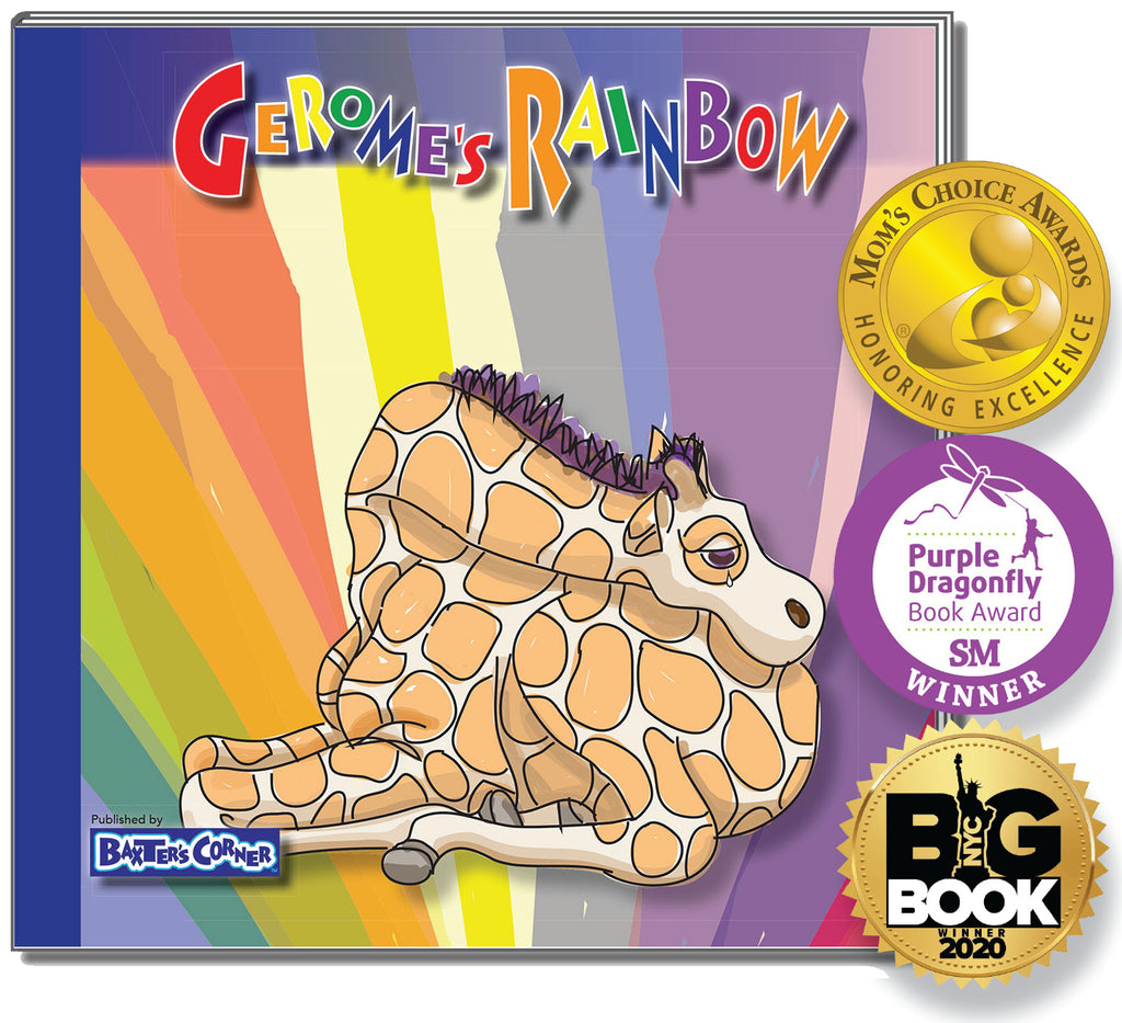 """Gerome's Rainbow"" Hardcover - Story About Acceptance"