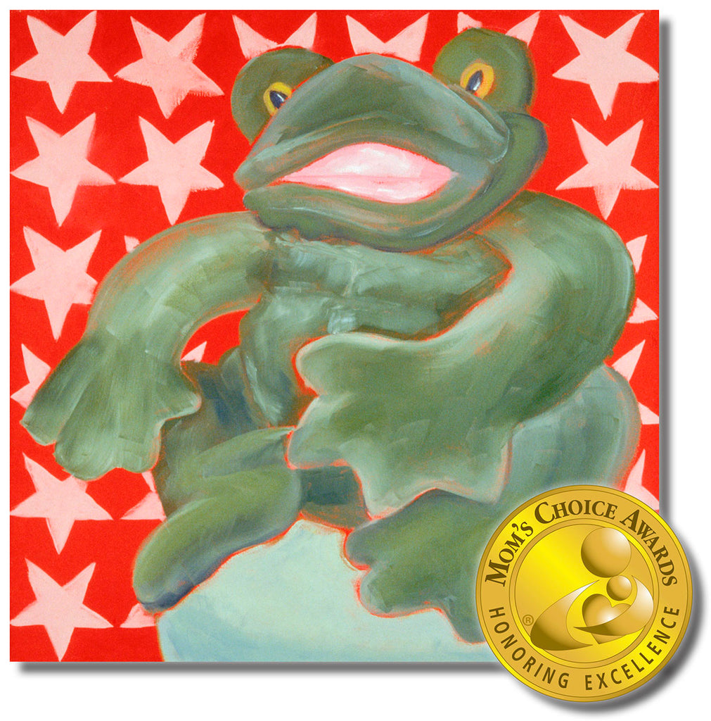 Fred the Frog  18 x 18 Gallery Wrapped Canvas