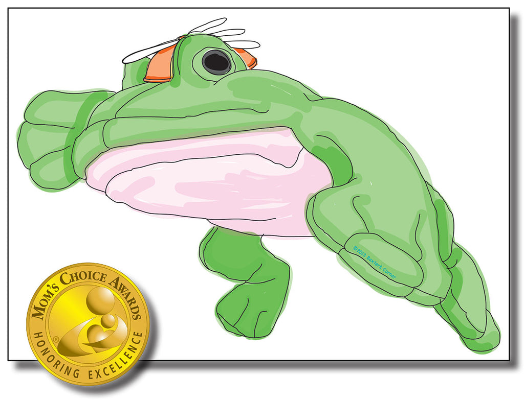 "Fred the Frog Removable Wall Decal 34"" x 24"" from ""Sideways Fred"" Storybook"