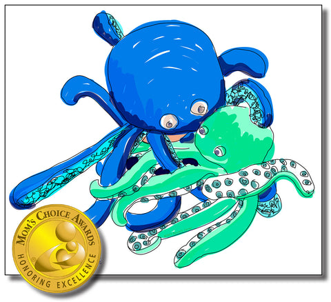 "Oakley the Octopus Removable Wall Decal 24"" x 34"" from ""Oakley in Knots"" Storybook"