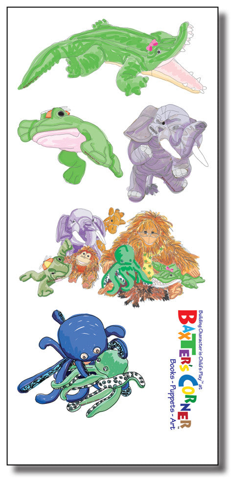 The Gang at Baxter's Corner - Removable Decals of 5 Small Images