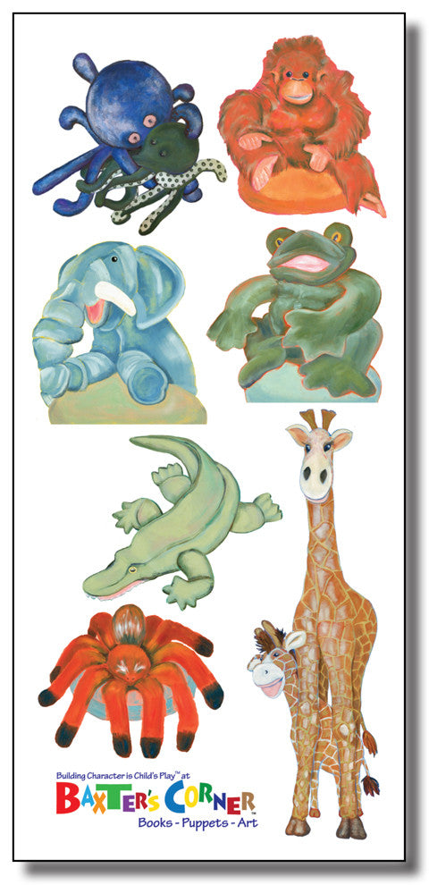 The Gang at Baxter's Corner - Removable Decals of 7 Small Images