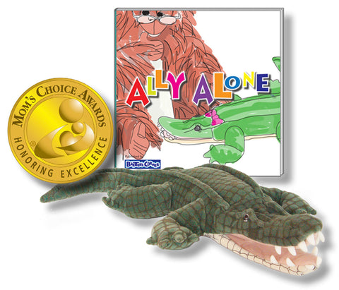 "Ally the Alligator - Hard Cover ""Ally Alone"" – Beyond the Story Book & Folkmanis Puppet"