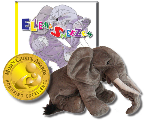 "Ellema Gift Set Includes ""Ellema Sneezes"" Hardcover - Story About Respect + Folkmanis Puppet"