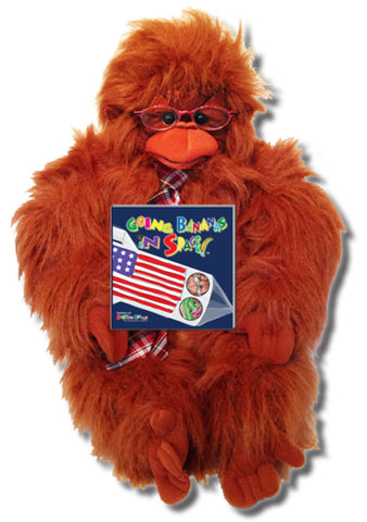 "The Gang Gift Set Includes ""Going Bananas in Space"" - Written by Cabbage Patch Young Storytellers, Softcover + Mr. McBoom the Orangutan Puppet"