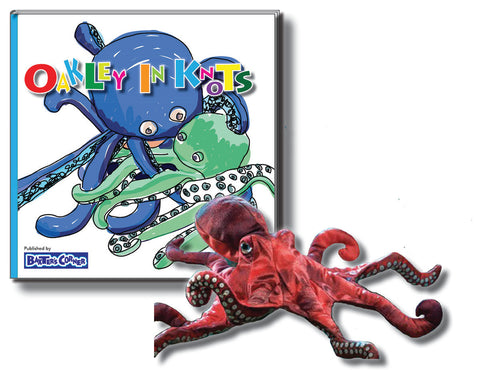 "Oakley Gift Set Includes ""Oakley in Knots"" Hardcover - Story About Respect + Folkmanis Puppet"