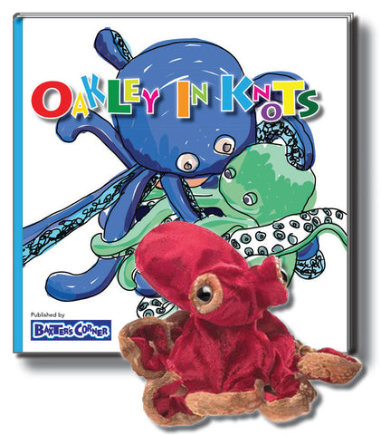 "Oakley Gift Set Includes ""Oakley in Knots"" Softcover - Story About Respect + Folkmanis Puppet"