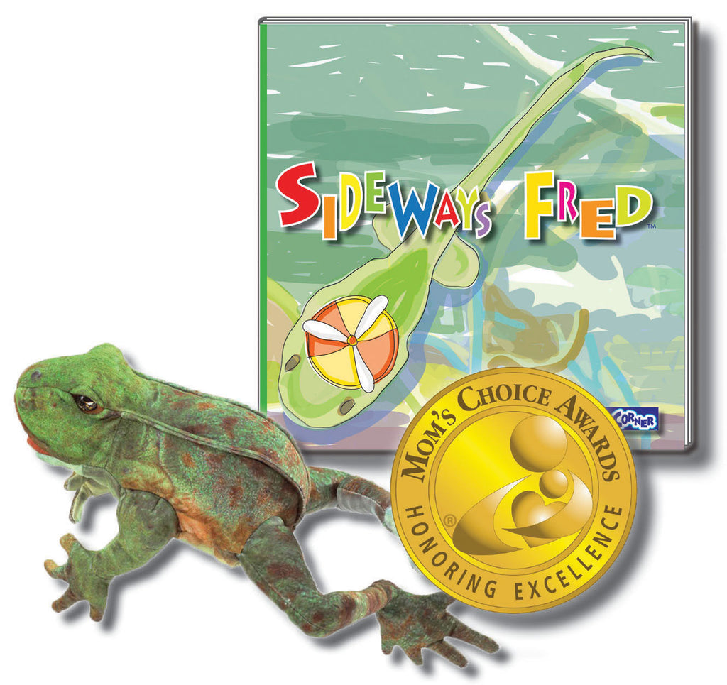 "Fred Gift Set Includes ""Sideways Fred"" Hardcover - Story About Determination + Folkmanis Puppet"
