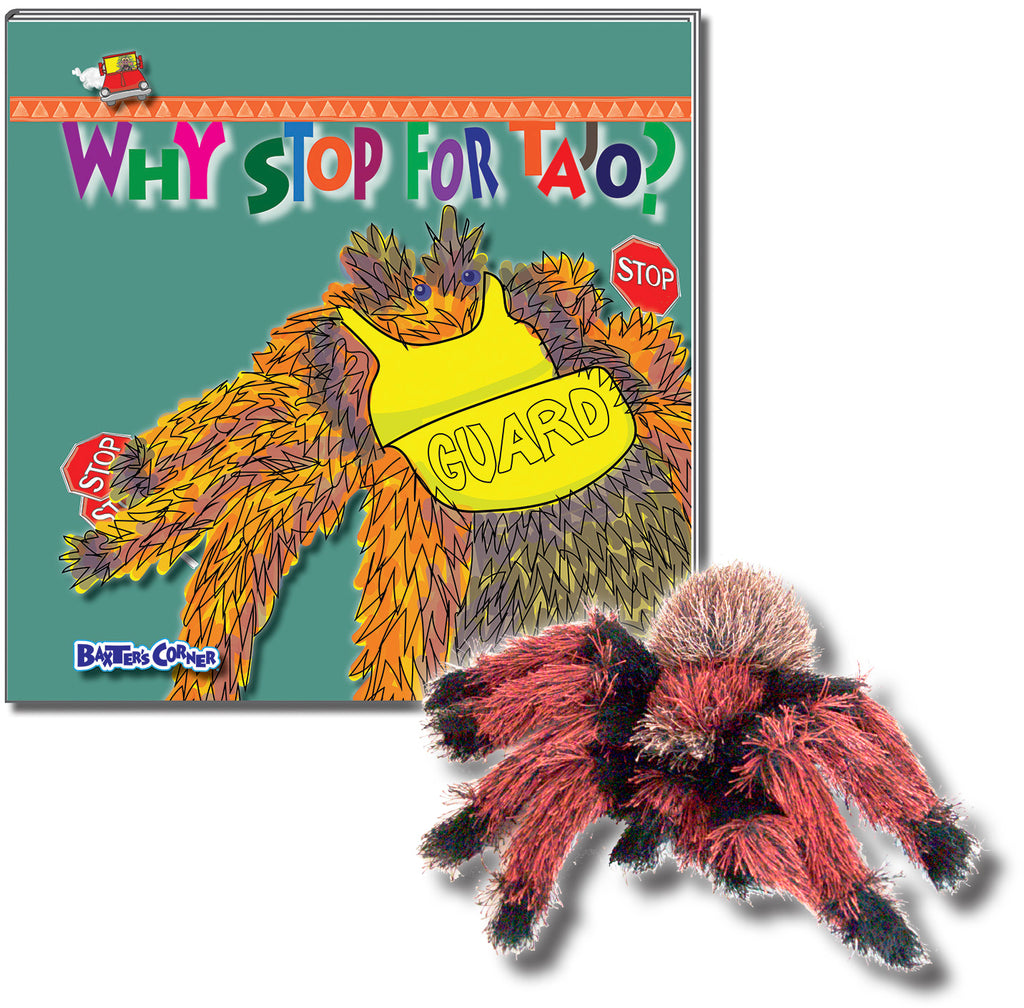 "Tajo Gift Set - ""Why Stop For Tajo"" Hardcover, a Story About Respecting Authority + Folkmanis Puppet"