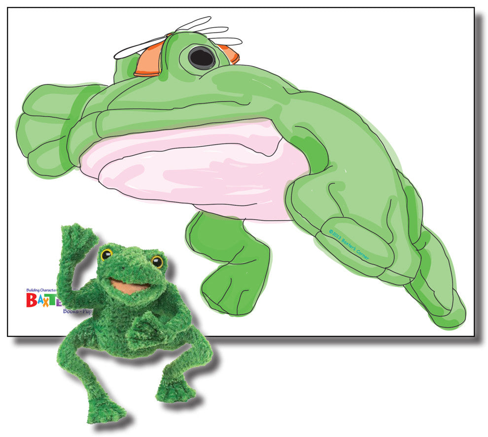 "Fred the Frog - Includes Puppet, and 34"" X 24"" Removable Wall Decal"