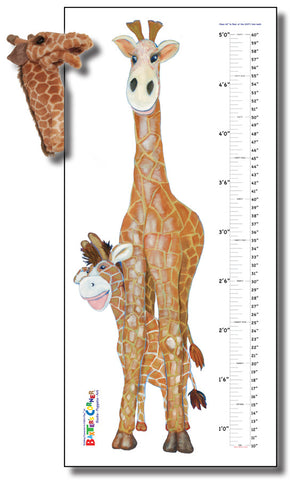 "Gerome Gift Set Includes Folkmanis Puppet & Removable Grow Chart Decal 25"" x 55"""