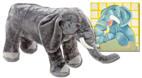 Ellema the Elephant - Includes Canvas Wall Art and Melissa & Doug Plush