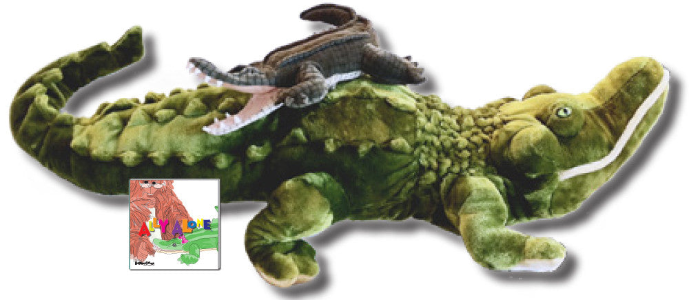 "Ally Gift Set ""Ally Alone"" – Hardcover Story About Resilience, Folkmanis Puppet, & Plush Alligator"