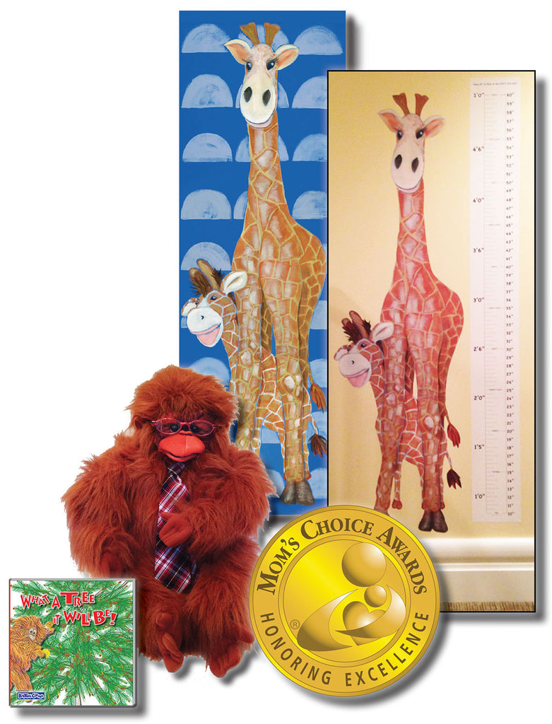 "The Gang ""What A Tree It Will Be!"" – Story About Cooperation, Folkmanis Puppet, 18x54 Canvas & Grow Chart Decal"