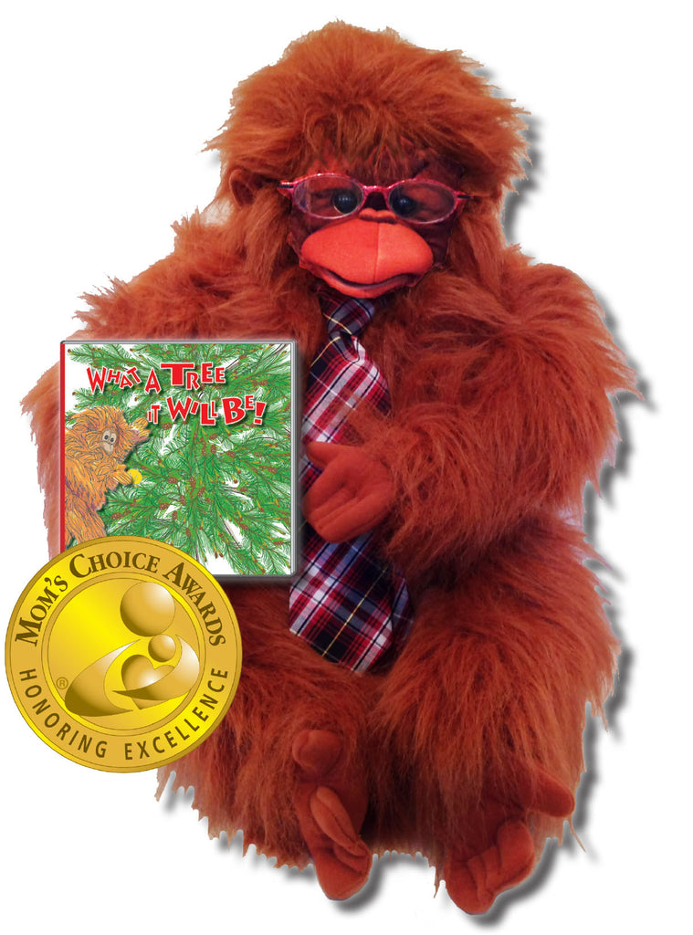 "The Gang Gift Set Includes ""What a Tree It Will Be! Hardcover - Story About Cooperation + Mr. McBoom the Orangutan Puppet"