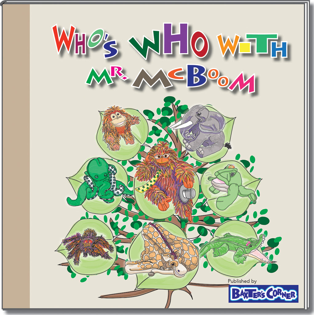 """Who's Who with Mr. McBoom"" Hard Cover book with Large Activity Insert"