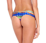 Luli Fama Tribal Beach Sandy Buns minimal coverage bottom L455509