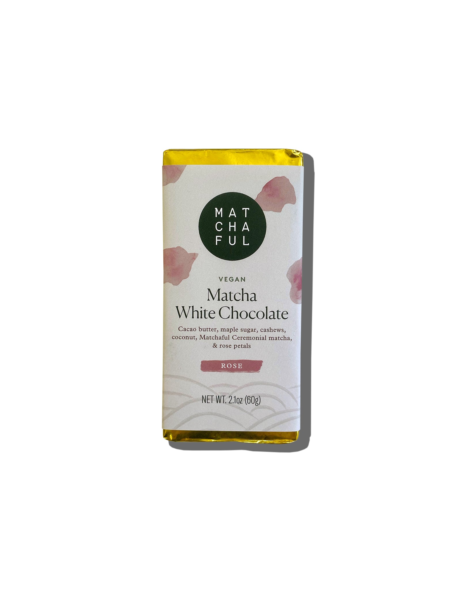Matchaful Vegan White Chocolate Bar - Rose