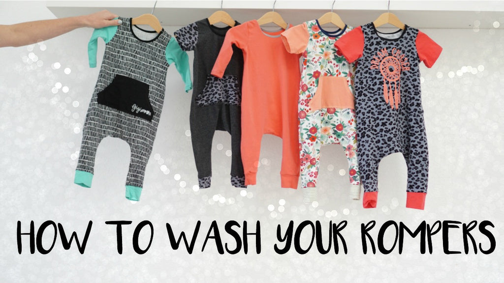 How to wash your rompers