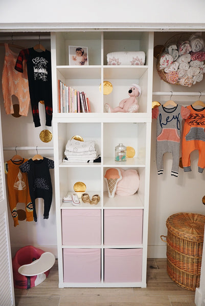 How to organize baby's closet! Baby romper