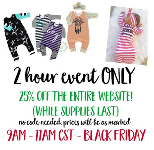 Gigi and Max Black Friday Event!!