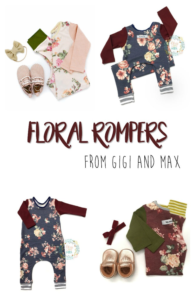 Beautiful Floral Rompers from Gigi and Max