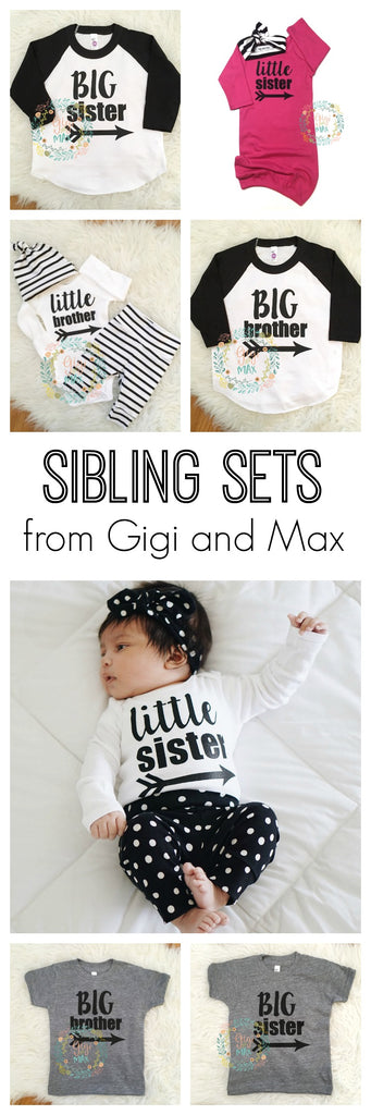 Sibling sets from Gigi and Max! What a fun way to announce a pregnancy!