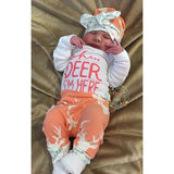 Buck Coral Oh Deer I'm Here Newborn Outfit - Gigi and Max