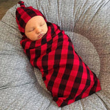 "Hudson Buffalo Plaid Swaddle blanket - 47"" x 47"" - Gigi and Max"