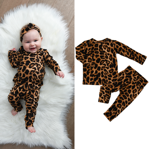 Aria Leopard Two Piece Set Handmade (headband sold separately) - Gigi and Max