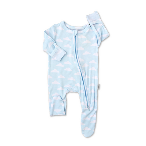 Andy Clouds Newborn Footed Zip - Gigi and Max