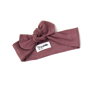 Kate Mauve Topknot Headband - Gigi and Max