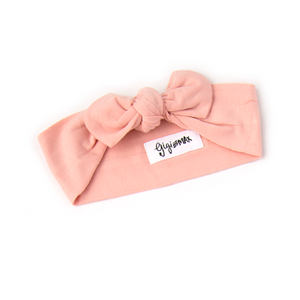 Olivia Light Pink Topknot Headband - Gigi and Max