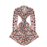 Ari Dark Vintage Floral Mommy Robe - Gigi and Max