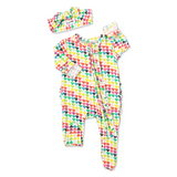 Piper Hearts Newborn Footed Ruffle Zip - Gigi and Max
